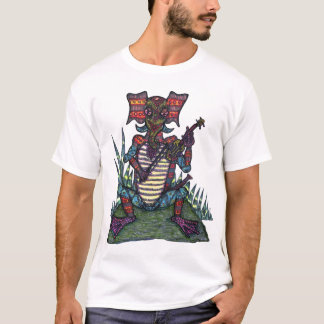 Eletreephrog with Fiddle - Men's T-shirt