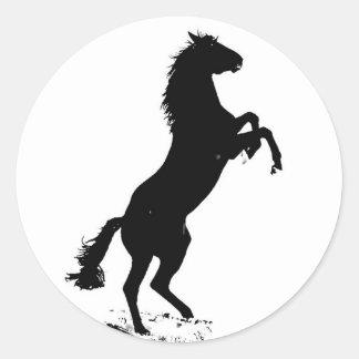 Élevage du cheval autocollant rond