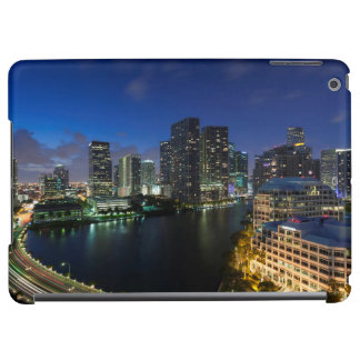 Elevated city skyline from Brickell Key iPad Air Covers