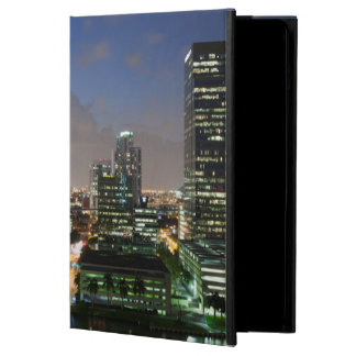 Elevated city skyline iPad air cover