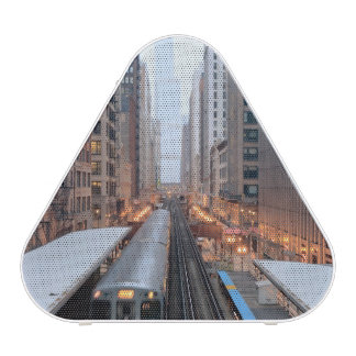 Elevated rail in downtown Chicago over Wabash Blueooth Speaker