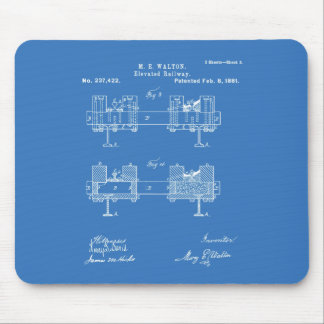 Elevated Railway - Mary Walton, Inventor Mouse Pad