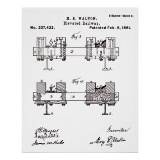 Elevated Railway - Mary Walton, Inventor Poster