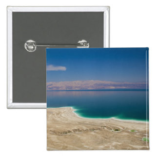 Elevated view of the Dead Sea 2 Inch Square Button