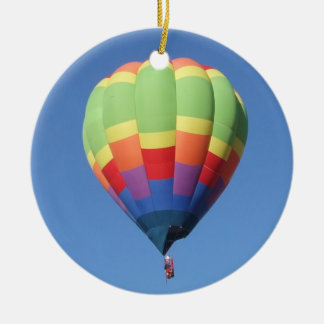 Elevation II Hot Air Balloon Ceramic Ornament