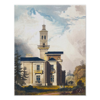 Elevation of an Italian Villa or Hunting Lodge Poster