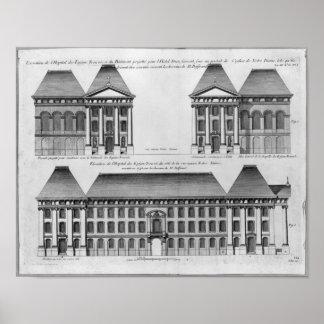 Elevation of the Hopital des Enfants Trouves Poster