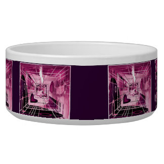 Elevator Down Abstract Pet Water Bowl