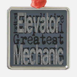 Elevator Mechanic Extraordinaire Metal Ornament