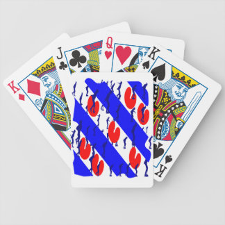 Eleven cities excursion bicycle playing cards