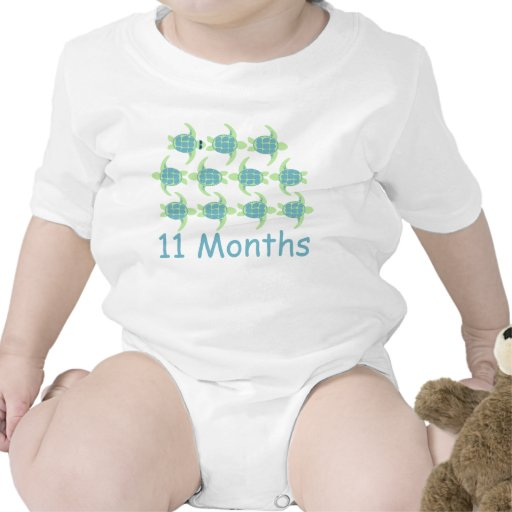 Eleven Months Sea Turtle Rompers