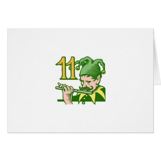 Eleven Pipers Piping Card