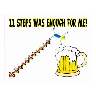 Eleven Steps Postcard