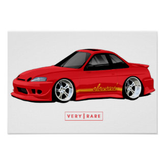 Elevens' Paint & Fiber Lexus SC300 Poster