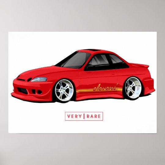 Elevens' Paint & Fibre Lexus SC300 Poster
