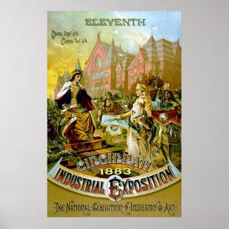 Eleventh Cincinnati Industrial Exposition. Poster