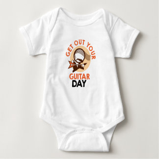Eleventh February - Get Out Your Guitar Day Baby Bodysuit