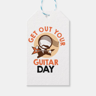 Eleventh February - Get Out Your Guitar Day Pack Of Gift Tags