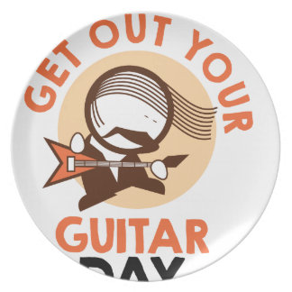 Eleventh February - Get Out Your Guitar Day Party Plate