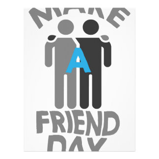 Eleventh February - Make a Friend Day Letterhead