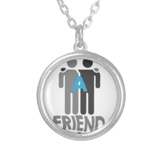 Eleventh February - Make a Friend Day Silver Plated Necklace