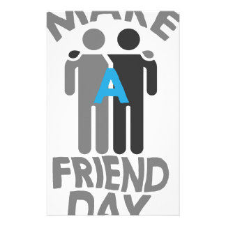 Eleventh February - Make a Friend Day Stationery