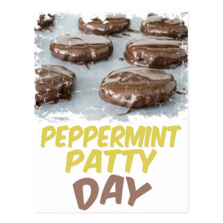 Eleventh February - Peppermint Patty Day Postcard
