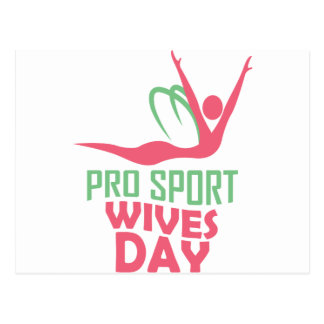 Eleventh February - Pro Sports Wives Day Postcard
