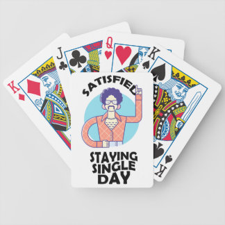 Eleventh February - Satisfied Staying Single Day Bicycle Playing Cards