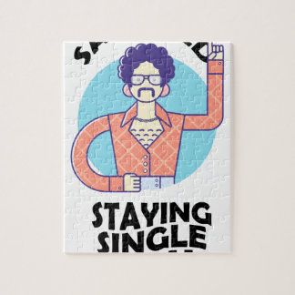 Eleventh February - Satisfied Staying Single Day Jigsaw Puzzle
