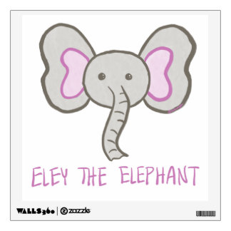 Eley the Elephant -Baby / Kids Room Fun Wall Decal
