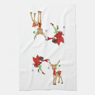 Elf and Reindeer Towel