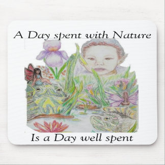 Elf and Turtles with Nature Mouse Pad