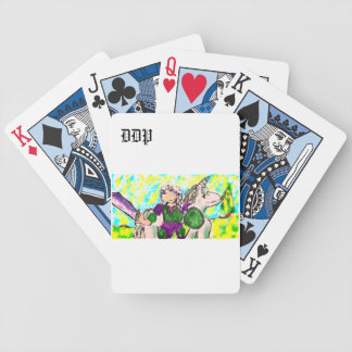 Elf and unicorn bicycle playing cards