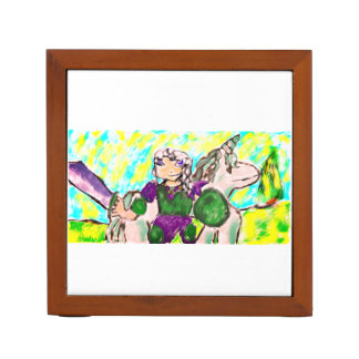 Elf and unicorn desk organizer