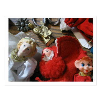 Elf, Angel and Pixie Christmas Post Card