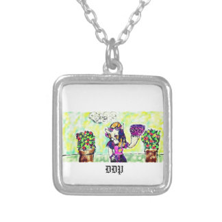 elf art 3 silver plated necklace