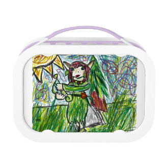 Elf art lunch box