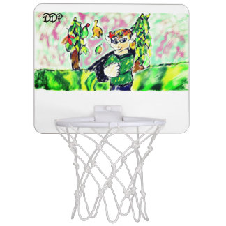 Elf art two mini basketball hoop