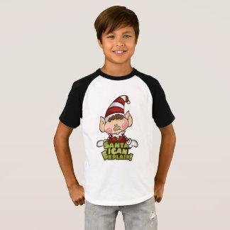"""Elf Boy - """"Santa I can..."""" Boy T-Shirt"""