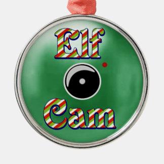 Elf Cam Christmas Ornament/Elf Camera North Pole Metal Ornament
