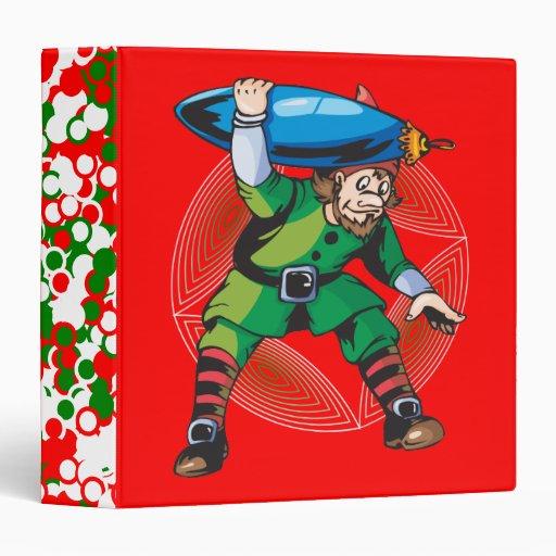 Elf Carrying Christmas Ornament Binders