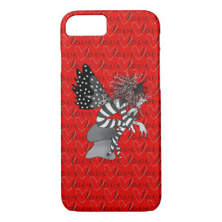 Elf Cartoon Monochromatic Love Word Pattern Red iPhone 8/7 Case