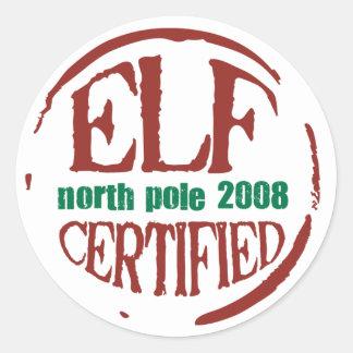 elf certified stamp sticker