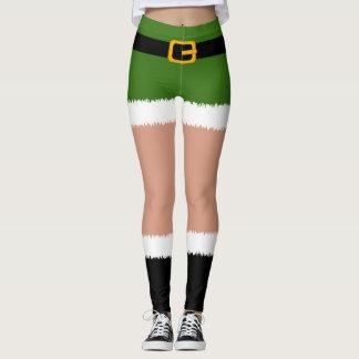Elf Costume Christmas Leggings
