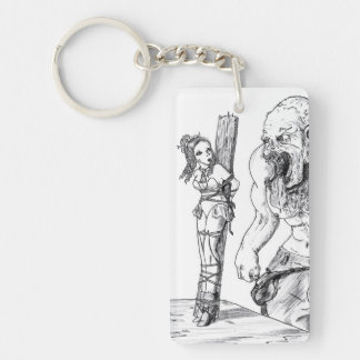 Elf Damsel in Distress Single-Sided Rectangular Acrylic Keychain