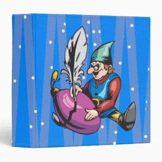Elf Decorating Christmas Ornament Vinyl Binder