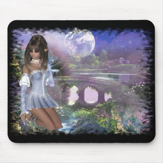 Elf & Dreamy Scene - Fantasy Product Line Mouse Pad