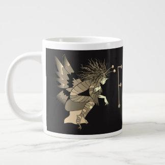 Elf Fairytale Sephia Black Background Mug