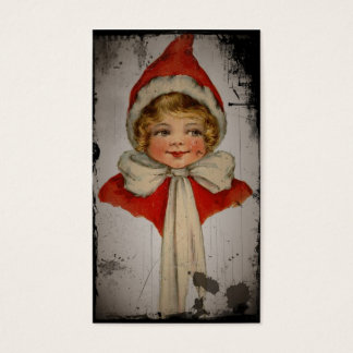 Elf Girl in a Red Cape Business Card